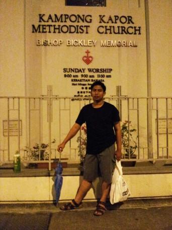 fajar di gereja